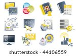 vector website creation icon set