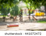 a slider located on the sand in ... | Shutterstock . vector #441072472