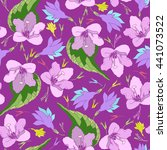 seamless pattern with colorful... | Shutterstock .eps vector #441073522