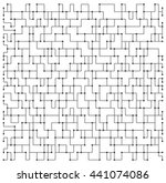 Abstract vector pattern with lines and dots. Geometric outline modern background. Technology mesh illustration for web and print design.