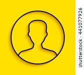 profile  user icon. | Shutterstock .eps vector #441077926