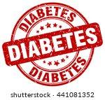 diabetes. stamp. | Shutterstock .eps vector #441081352