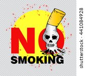 no smoking. vector illustration. | Shutterstock .eps vector #441084928