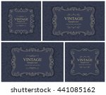 set of 4 wedding invitation... | Shutterstock .eps vector #441085162