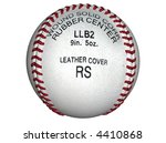 3d illustration of a baseball | Shutterstock . vector #4410868