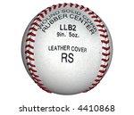 3d illustration of a baseball | Shutterstock . vector #4410868