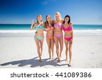 portrait of friends posing at... | Shutterstock . vector #441089386