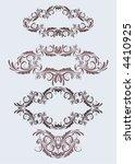 4 floral vintage frames just ad ... | Shutterstock .eps vector #4410925