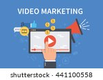 video marketing concept banner. ... | Shutterstock .eps vector #441100558