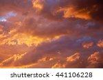 Bright Heavenly Sunset Golden...