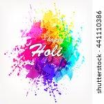 holi spring festival . vector... | Shutterstock .eps vector #441110386