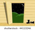 open door | Shutterstock .eps vector #44113246