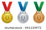 set vector sports awards gold ... | Shutterstock .eps vector #441133972