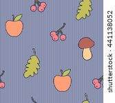 seamless pattern with apples ...   Shutterstock .eps vector #441138052