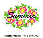 isolated greeting decoration... | Shutterstock . vector #441146992