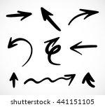 hand drawn arrows  vector set  | Shutterstock .eps vector #441151105