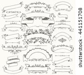 collection of hand drawn black... | Shutterstock .eps vector #441151708