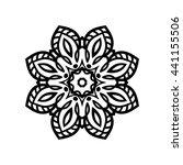 mandala. ethnic decorative... | Shutterstock .eps vector #441155506