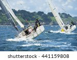 group yacht at race | Shutterstock . vector #441159808