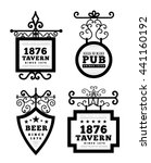 tavern sign  metal frame with... | Shutterstock .eps vector #441160192