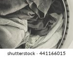 clothes in washing machine... | Shutterstock . vector #441166015