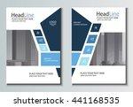 leaflet brochure flyer template ... | Shutterstock .eps vector #441168535
