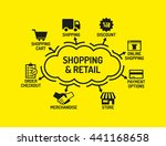shopping and retail chart with... | Shutterstock .eps vector #441168658