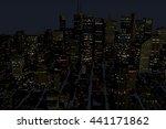 urban futuristic city in motion.... | Shutterstock . vector #441171862