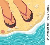 Vector Illustration With Feet...