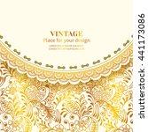 vintage floral background.set...   Shutterstock .eps vector #441173086