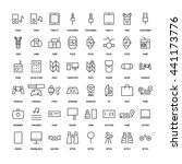 electronics simple icons set.... | Shutterstock .eps vector #441173776