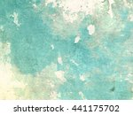 Turquoise Background In Grunge...