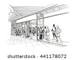 fashion store hand drawn sketch ... | Shutterstock .eps vector #441178072