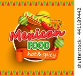 mexican food label with... | Shutterstock .eps vector #441189442