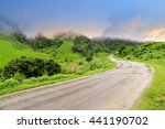 Mountain Road View In The Nort...