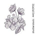 black and white ornamental... | Shutterstock .eps vector #441192952