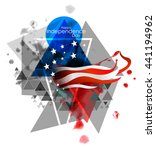 creative illustration american... | Shutterstock .eps vector #441194962