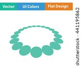 beads icon. flat design. vector ...