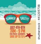 summer sale marketing template... | Shutterstock .eps vector #441205738