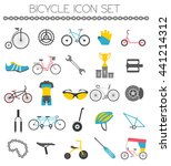 bicycle icon set. bike types.... | Shutterstock .eps vector #441214312