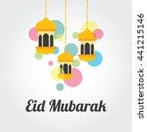 eid mubarak  greeting... | Shutterstock .eps vector #441215146