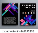 geometric cover background ... | Shutterstock .eps vector #441215152