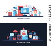 website data safety  security... | Shutterstock . vector #441219166