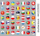 flags of all european countries.... | Shutterstock .eps vector #441225352