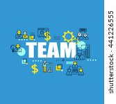 business banner with team... | Shutterstock .eps vector #441226555