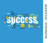 business banner with success... | Shutterstock .eps vector #441226558