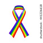 rainbow ribbon isolated. 3d... | Shutterstock . vector #441226618