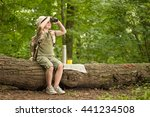 excited little girl on a... | Shutterstock . vector #441234508