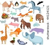 big animal set | Shutterstock .eps vector #44124121