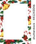 winter holyday greeting card.... | Shutterstock . vector #441243046